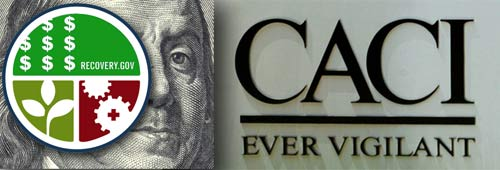 CACI International, which won stimulus contracts worth $1.5 million, came under fire in a 2004 Army Investigation for abuse allegations.