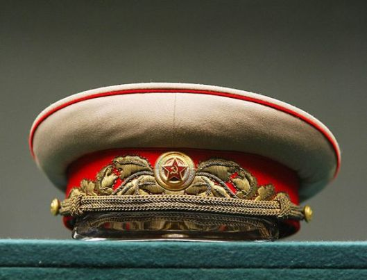Stalin's cap, seen at the Russian State Archive. City Hall is planning to post signs explaining his role in World War II. Photo courtesy of Igor Tabakov / MoscowTimes