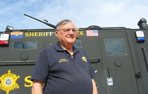 Maricopa County Sheriff Joe Arpaio launched a crime-suppression operation Thursday targeting a large swath of desert near Gila Bend that is a smuggling corridor.  Photo by Laurie Merrill/The Arizona Republic
