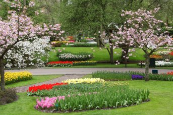 Keukenhof gardens in spring, Spring Garden by Vera Kratochvil, Public Domain.