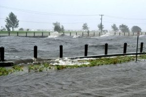 Flooding is widespread along Long Island.  Credits: Stephen Barcelo for News