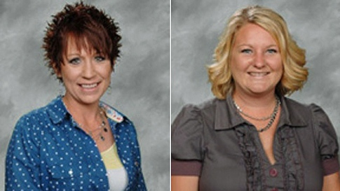 School aide Kelly Chaffins (left) and teacher Christie Wilt were accused of bullying a 14-year-old developmentally disabled girl in Columbus, Ohio.  Image courtesy of via schoolbullyingcouncil.com/NYDN
