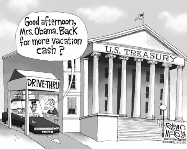 Obama spends TAX payer money