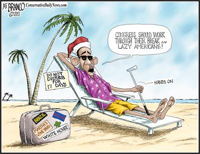 Obama in Hawaii cartoon