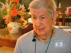 """Ruth Sherman, 88, says she was violated at a Kennedy Airport security checkpoint. """"I felt like I was invaded,"""" she told WCBS in an interview. Photograph courtesy of WCBS/NYDN."""