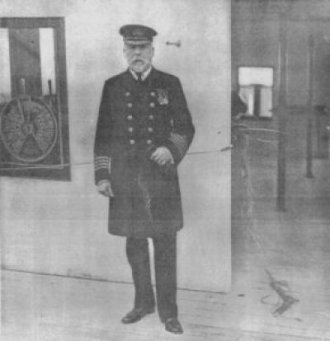 Captain Edward John Smith on the Bridge of the Titanic