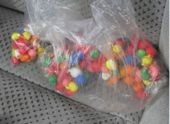 Drug dealers sell tiny balls of black tar heroin for as little as $5 and $10 a piece. It is often sold in small balloons