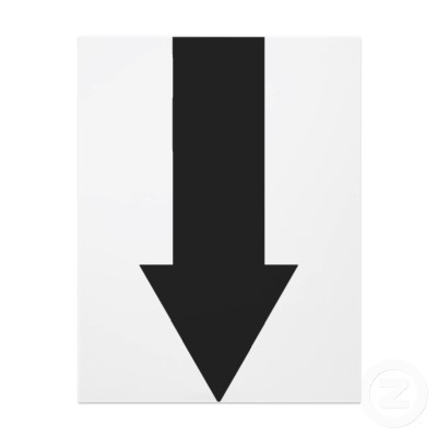 Black Down Arrow