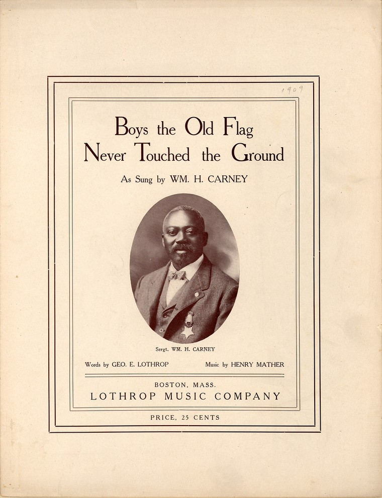 Boys, the old flag never touched the ground (sheet music).  Library of Congress.