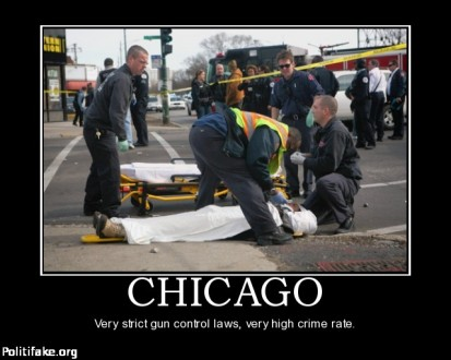 Chicago gun control laws - Image courtesy of Politifake.