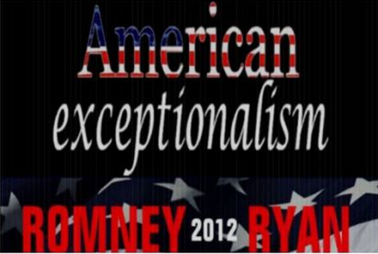 American Exceptionalism Romney Ryan 2012. Image courtesy of Zazzle.