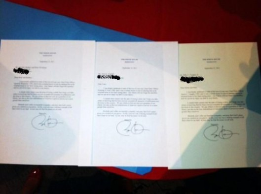 Obama Auto-Signs Navy SEAL Death FORM Letters.  Image courtesy of Gateway Pundit.