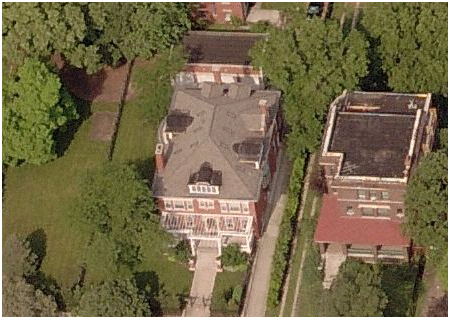 Obama's home in Chicago, Illinois