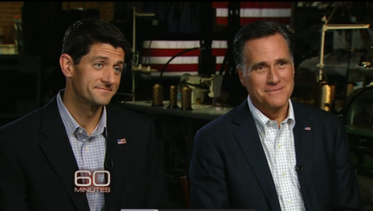 Paul Ryan Mitt Romney on 60 Minutes