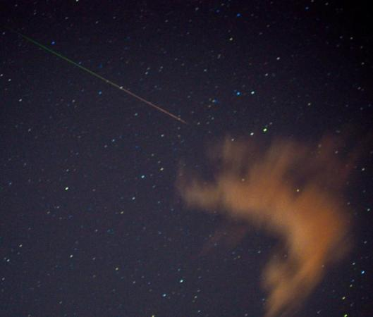 Perseid Meteor by Marsha Adams, Sedona, Arizona 08122012 - Image courtesy of SpaceWeather.com