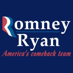 Romney Ryan America's Comeback Team.  Image courtesy of Party Crasher T-shirts.