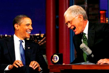 Barack Obama Hearts David Letterman  Netanyahu, NO