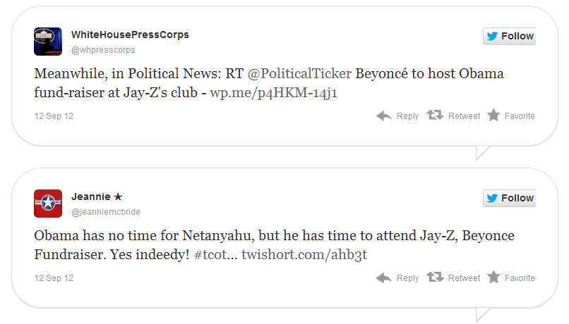 Obama Snubs Benjamin Netanyahu for JayZ and Beyonce Fundraiser at JayZ's Club.