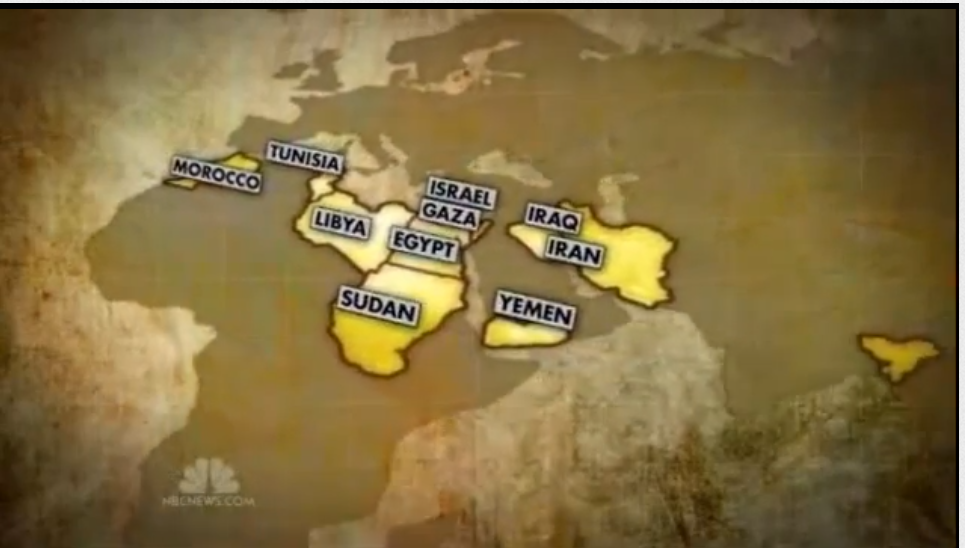 Locations of Anti-American protests by Islamic jihadists across the Middle East Screenshot 002