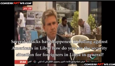 Chris Stevens U S Ambassador Summer of 2012 Interview re Security in Benghazi, Libya Screenshot 002