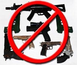 No Guns Banner