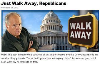 Rush Limbaugh to Republicans Walk Away