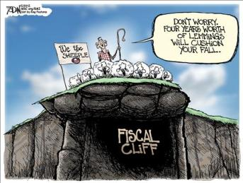 sheep off the fiscal cliff