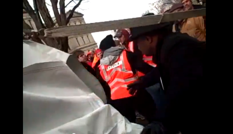 Union Thug Assault of Occupied AFP Tent on Camera Michigan Right to Work Vote Union Captains 12112012 Screenshot 001
