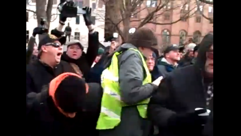 Union Thug Assault of Occupied AFP Tent on Camera Michigan Right to Work Vote Union Marshals 12112012 Screenshot 001