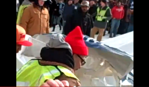 Union Thug Assault of Occupied AFP Tent on Camera Michigan Right to Work Vote Union Marshals 12112012 Screenshot 002