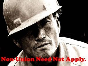 Non-union need not apply