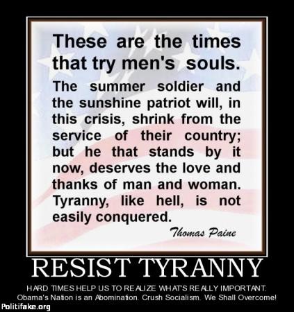 Resist tyranny Politifake