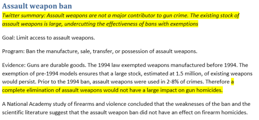 Screenshot of DOJ Memo re Obama Gun Ban Measures 001