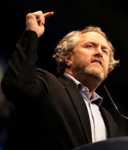 Andrew Breitbart speaking at CPAC on February 10, 2012.