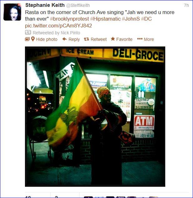 Fourth night protests in Brooklyn screenshot tweet 002  03142013
