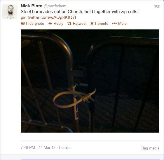 Fourth night protests in Brooklyn screenshot tweet 005  03142013