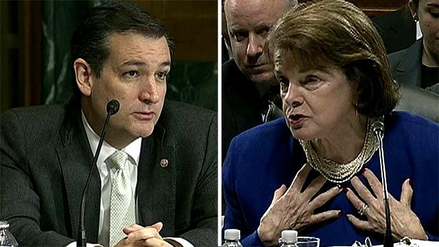 Ted Cruz Dianne Feinstein Blow out