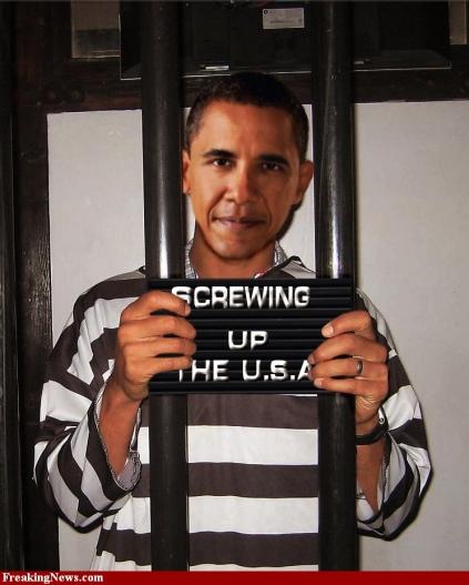 Barack Obama Mugshot