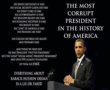 Barack Obama the most corrupt president in the history of America