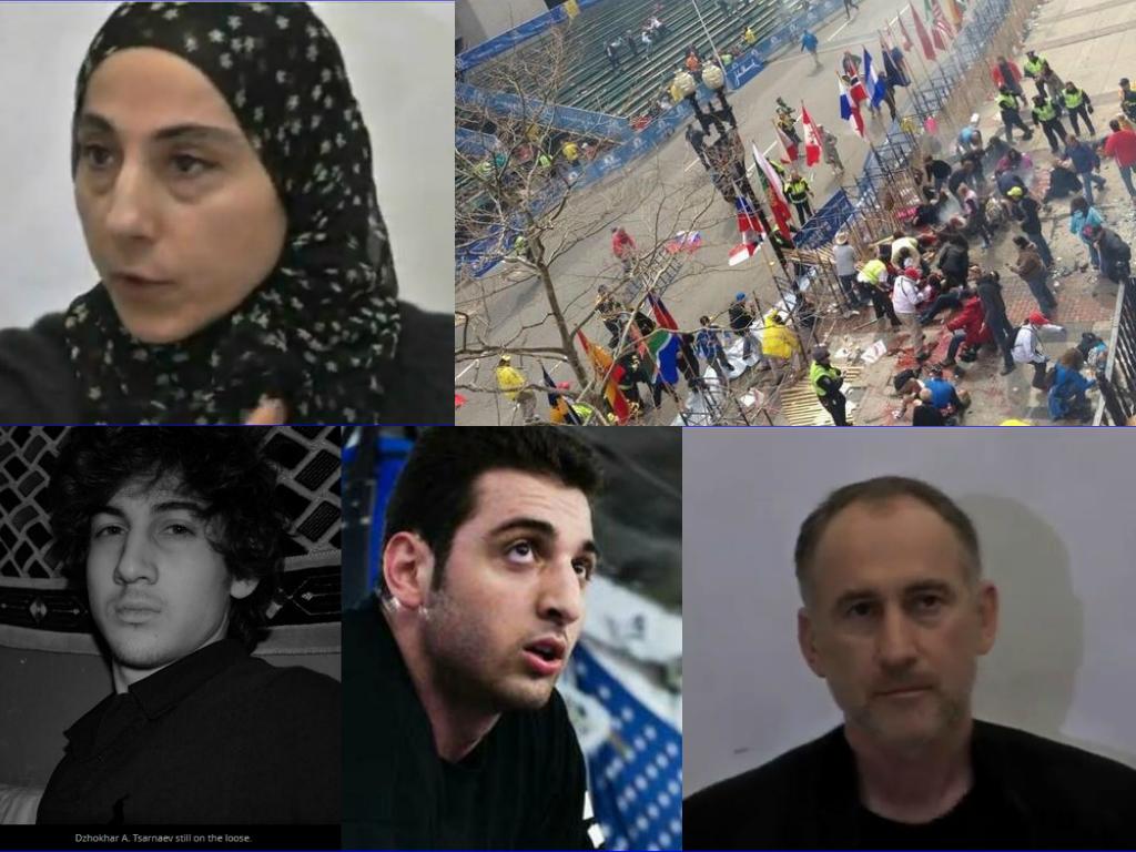 Collage Tsarnaeva family boston marathon terrorist attack