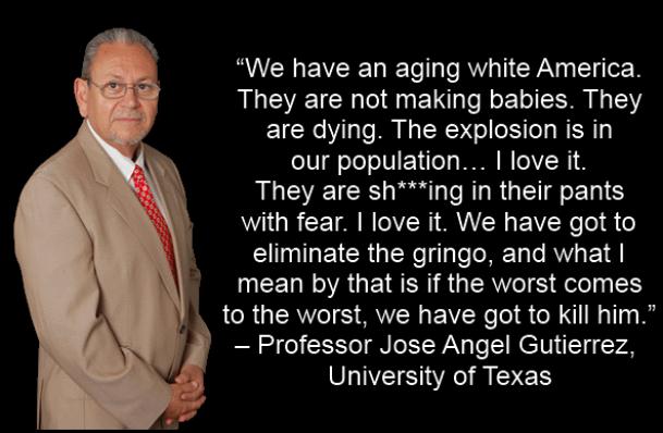 Gringo quote by Jose Angel Gutierrez University of Texas on taking 'back' America southwest