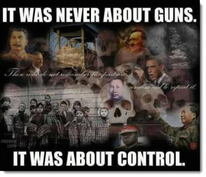it was never about guns it was about control