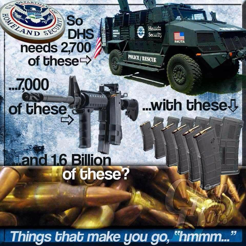 of Homeland Security against…who? Whats next, Martial Law
