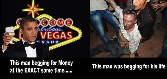 Obama Las Vegas Campaigning Ambassador Christopher Stevens Benghazi Dying