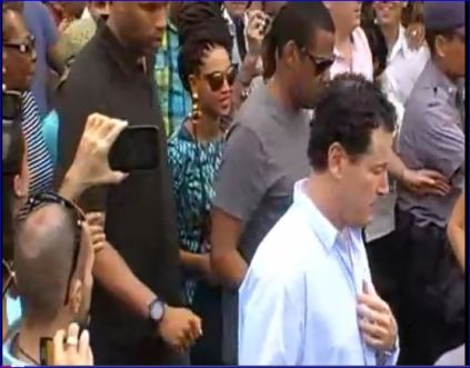 Screenshot of Jay Z and Beyonce being used as Propaganda Tools for the Cuban government