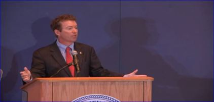 Senator Rand Paul at Howard University Speech on Liberty and Civil Rights 04102013 (Screenshot).