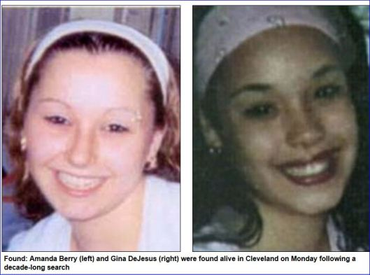 Amanda Berry Gina DeJesus kidnapped, held captive for ten years found alive in Cleveland, Ohio 05062013