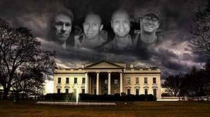benghazi four hanging over white house
