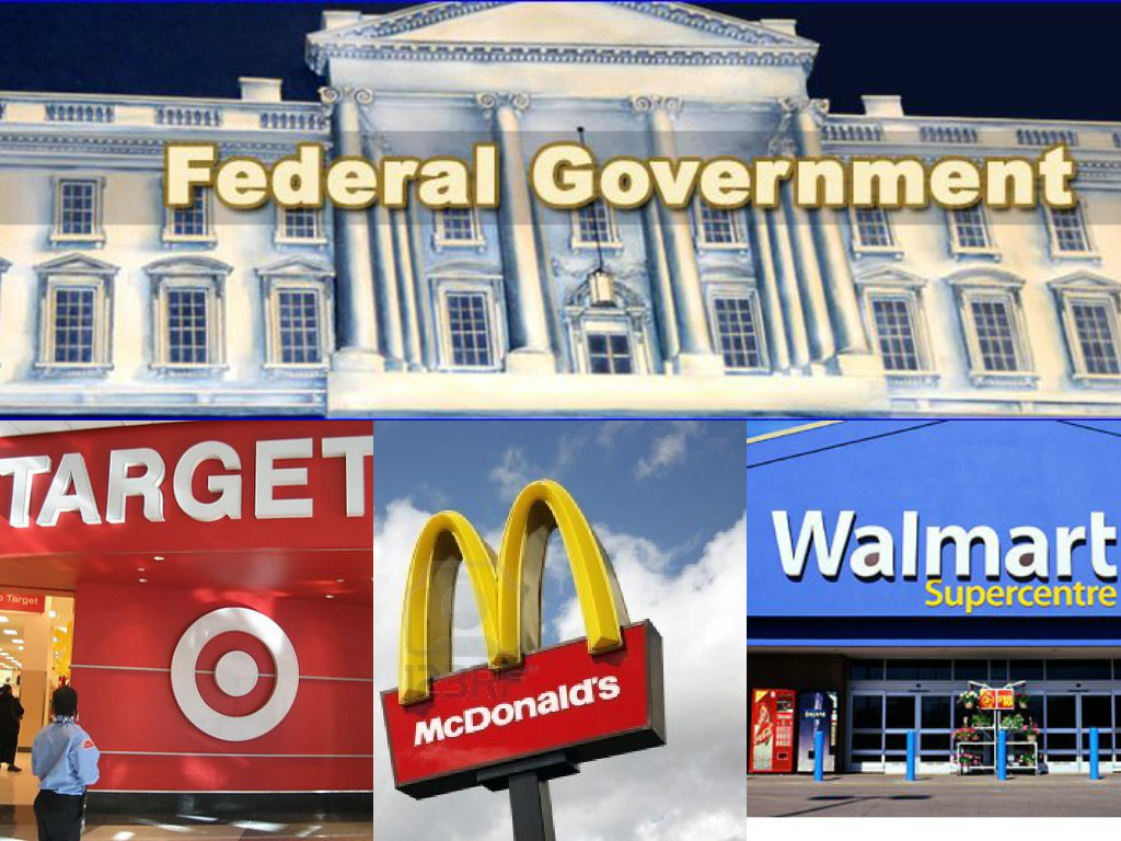 federal government creates more low wage jobs than wal mart and collage federal gov target mcds walmart