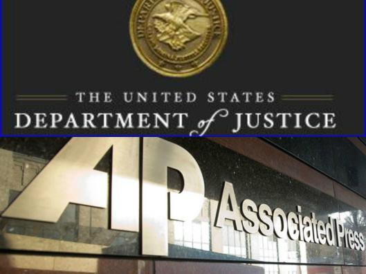 collage of usdoj ap logo